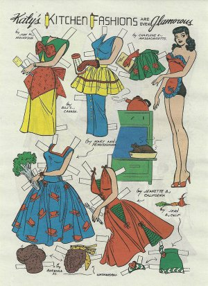 KATY'S KITCHEN FASHIONS Katy Keene Reproduction Comic Book Paper Dolls 2012