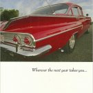 1960 CHEVY CHEV CHEVROLET BEL AIR 4-DOOR SEDAN Brithday Greeting Card & Envelope