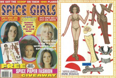 SPICE GIRLS MAGAZINE 1999 Bagged & Unopened w/ UNCUT Scary Spice PAPER DOLLS Mel B