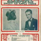 IDA! SWEET AS APPLE CIDER Eddie Leonard & Red Nichols Sheet Music 1930