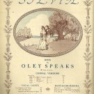 SYLVIA Original Piano Solo Sheet Music by Oley Speaks 1914 - This Edition 1941