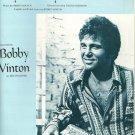 MY MELODY OF LOVE Sheet Music BOBBY VINTON 1974 PHOTO