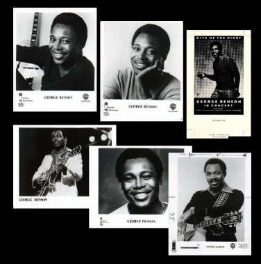 GEORGE BENSON Camera Ready Arrtwork and 5 8x10 Glossy Black & White Photos