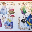 THE PIGS GO BAROQUE Magazine Paper Dolls Centerfold by Sandra Pool 1995
