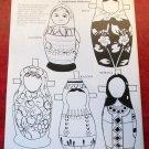 THE RUSSIAN MATRËSHKA PAPER DOLL Magazine Paper Dolls Linda Poirier Holderbaum