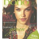 BOHO Fashion's First Going Green Eco Magazine Premiere Issue No. 1 Fall 2008