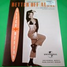 BETTER OFF ALONE Original Sheet Music Edition ALICE DEEJAY COVER PHOTO © 1999