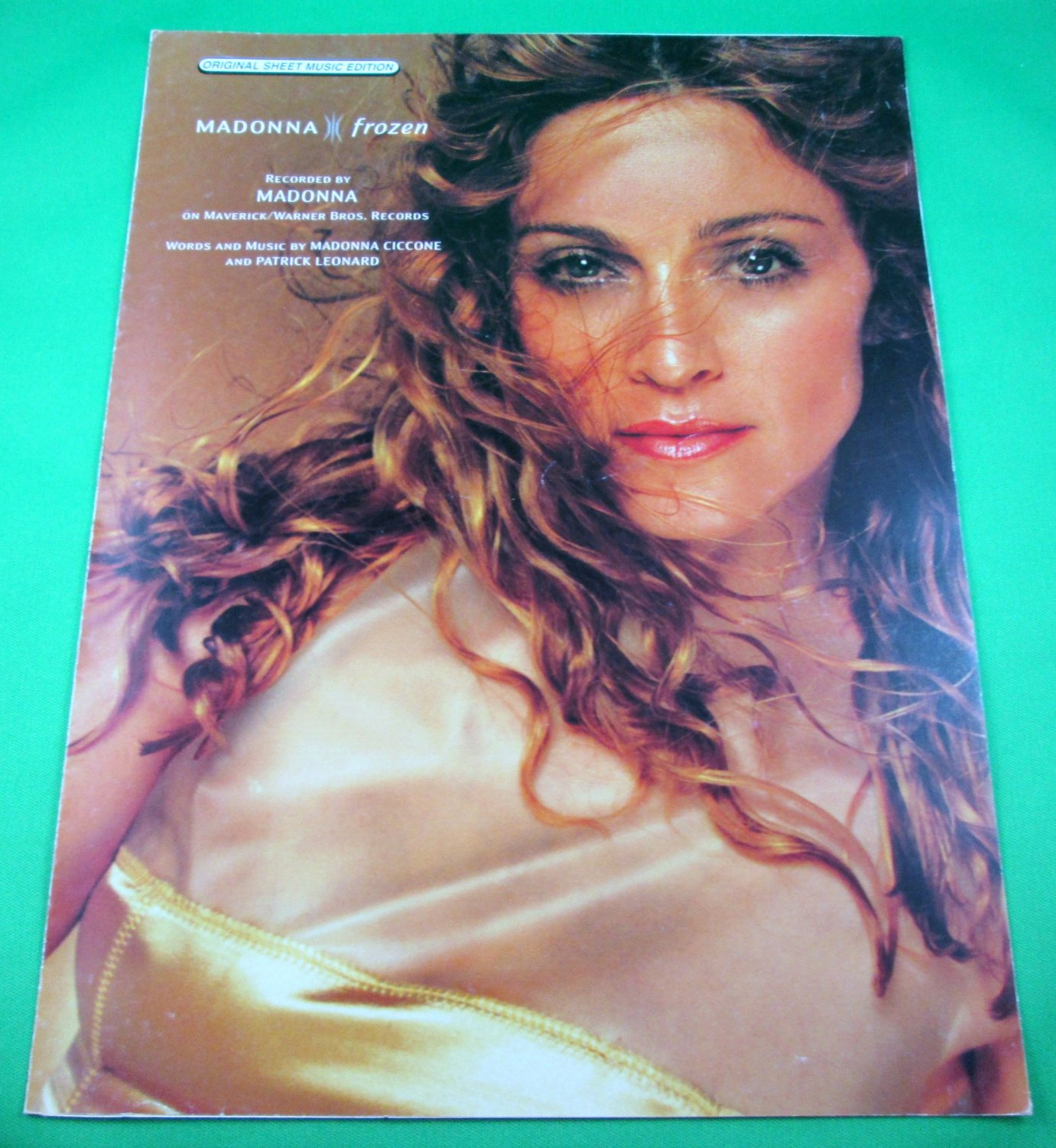 FROZEN Original Sheet Music Edition MADONNA COVER PHOTO © 1998