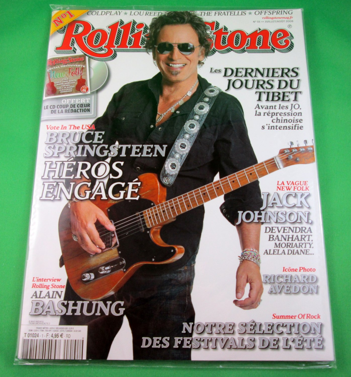 FRENCH LANGUAGE ROLLING STONE MAGAZINE #01 July/August 2008 BRUCE SPRINGSTEEN