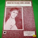 WHEN THE FEELING COMES AROUND Original Sheet Music JENNIFER WARNES © 1978-1980