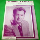 LISBON ANTIGUA Original Fox Trot Sheet Music NELSON RIDDLE COVER © 1954