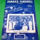 JAMAICA FAREWELL Original Calypso Sheet Music JAMAICA THUNDERBIRDS COVER © 1957
