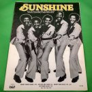 SUNSHINE Original Sheet Music ENCHANTMENT COVER © 1977