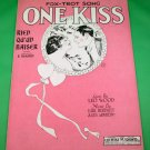 ONE KISS FOX-TROT SONG (RIEN QU'UN BAISER) Vintage Sheet Music © 1921
