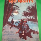 RIO NIGHTS SONG The Dreamiest of Dreamy Waltzes Vintage Sheet Music © 1920