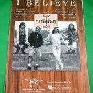 I BELIEVE Original Piano Vocal Guitar Sheet Music BLESSID UNION OF SOULS © 1994