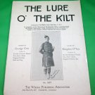 THE LURE O' THE KILT Vintage Sheet Music © 1926