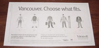 VANCOUVER. CHOOSE WHAT FITS. Paper Dolls From USA Today Newspaper Ad 1 BIG PAGE