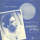 MOONLIGHT FIESTA Original Sheet Music WINIFRED ATWELL © 1954