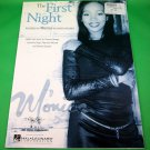 THE FIRST NIGHT Original Sheet Music MONICA COVER PHOTO © 1998