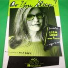 DO YOU SLEEP? Original Sheet Music LISA LOEB & NINE STORIES © 1995