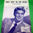 KNEE DEEP IN THE BLUES Original Sheet Music GUY MITCHELL © 1957