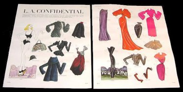 L.A. CONFIDENTIAL Magazine Paper Dolls 2 BIG PAGES