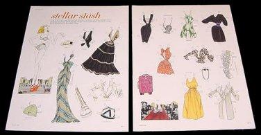 STELLAR STASH Magazine Paper Dolls 2 BIG PAGES