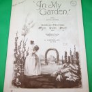IN MY GARDEN Vintage Piano/Voice Sheet Music © 1933