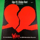 EDGE OF A BROKEN HEART Piano/Vocal/Guitar Sheet Music VIXEN © 1988