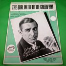 THE GIRL IN HE LITTLE GREEN HAT Piano/Vocal/Guitar Sheet Music EDDIE CANTOR 1933