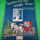 THANKS FOR THE BUGGY RIDE Vintage Piano/Vocal/Guitar Sheet Music © 1925
