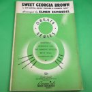 SWEET GEORGIA BROWN Sheet Music for Orchestra / Band ELMER SCHOEBEL © 1943