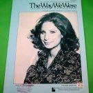 THE WAY WE WERE Piano/Vocal/Guitar Sheet Music BARBRA STREISAND © 1973