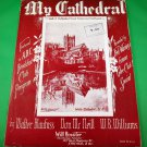 MY CATHEDRAL Vintage Piano/Vocal/Guitar Sheet Music ABC BREAKFAST CLUB © 1963