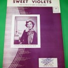 SWEET VIOLETS Vintage Piano/Vocal/Guitar Sheet Music DINAH SHORE © 1951