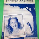 FOREVER AND EVER Vintage Piano/Vocal Sheet Music DINAH SHORE © 1948