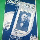 LONELY BLUES Vintage Piano/Vocal/Guitar/Uke Sheet Music ALLAN CARRON © 1933