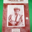 TWEEDLEE DEE Vintage Piano/Vocal/Guitar Sheet Music GEORGIA GIBBS COVER © 1954