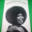 THE FIRST TIME EVER I SAW YOUR FACE Piano/Vocal Sheet Music ROBERTA FLACK © 1972