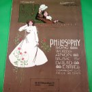 PHILOSOPHY Piano/Vocal Sheet Music © 1914
