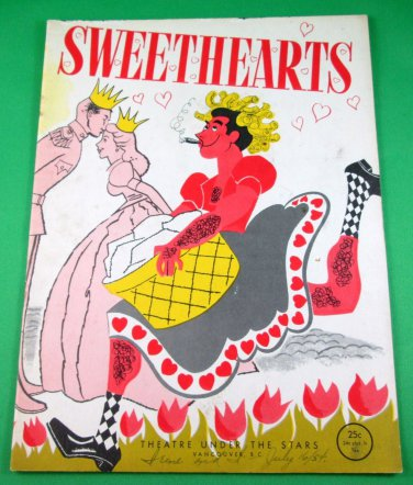 SWEETHEARTS Souvenir Program THEATRE UNDER THE STARS Vancouver 1954
