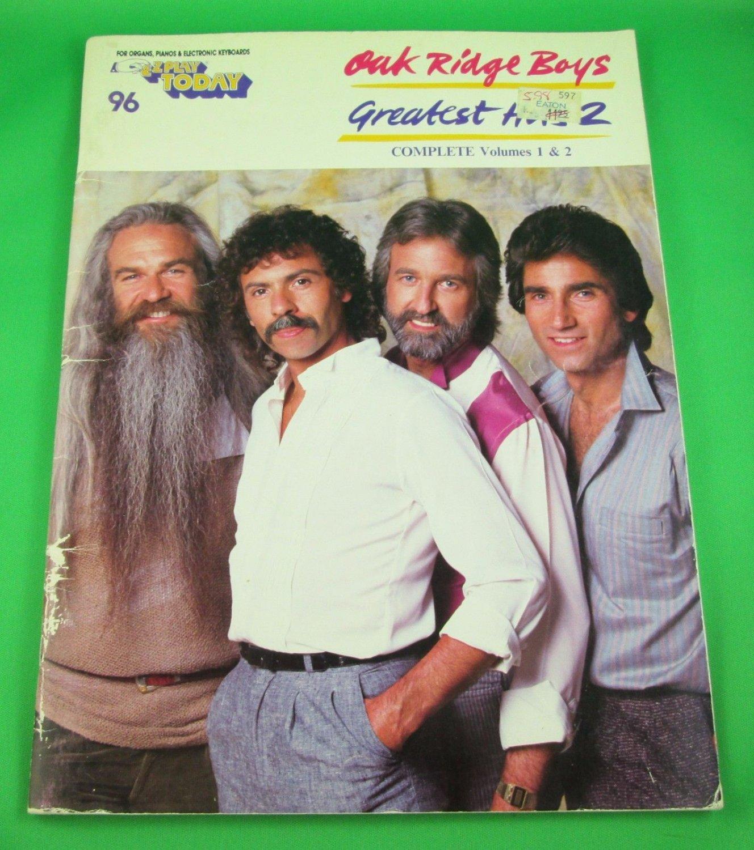 BOYS GREATST HITS 2 E Z Play Today Song Book #96 © 1980s Vol 1 & 2
