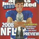 SI SPORTS ILLUSTRATED FOR KIDS September 2008 ELI MANNING - 9 Card Sheet NEW!