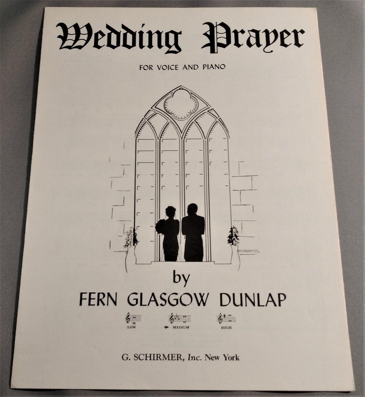 WEDDING PRAYER Piano Organ Voice Sheet Music