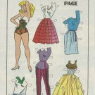 BETTY & VERONICA Comic Book Paper Dolls - 2 Pages of Fashions