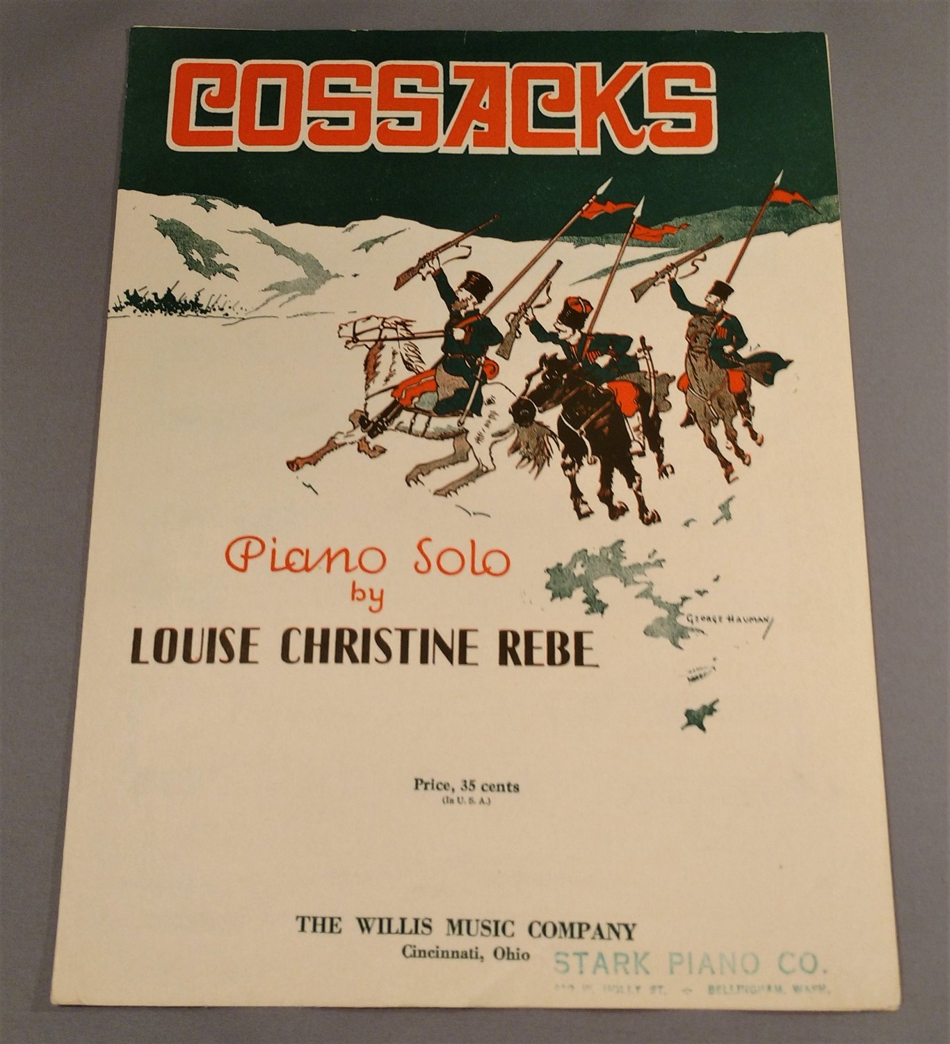 COSSACKS Piano Solo by Louise Christine Rebe © 1930