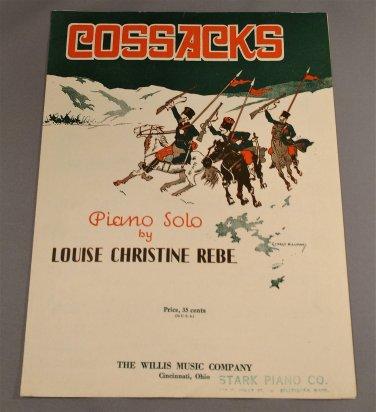 COSSACKS Piano Solo by Louise Christine Rebe © 1930