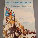 WALTZING MATILDA (An Australian Song) Vintatge Sheet Music © 1941 Edition V1504