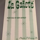 LA GAIETÉ Piano Solo Sheet Music by Dent Mowrey © 1942